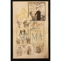 "PROGRAM DE TEATRU, "" SOIRE DU 4 FEVRIER 1892 "" CROMOLITOGRAFIE"