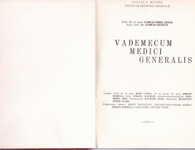 VADEMECUM MEDICI  GENERALIS foto
