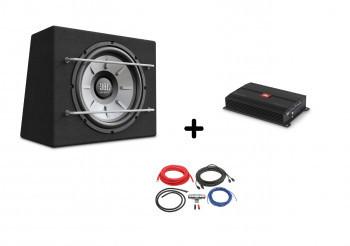 Pachet subwoofer JBL cu Amplificator si kit cabluri STAGE 1200B+STAGE A3001+LK-10