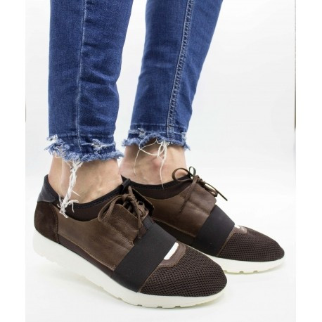 Pantofi piele naturală 532 Maro 43