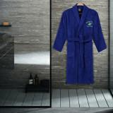 Halat de baie Beverly Hills Polo Club, 355BHP1703, bumbac 100 procente, S/M, Albastru