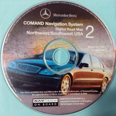 DVD original Navigatie GPS Mercedes-Benz (America de Nord si Sud)