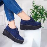 Pantofi dama cu platforma albastri Kalea