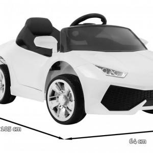 Masinuta electrica Super Speed, alb