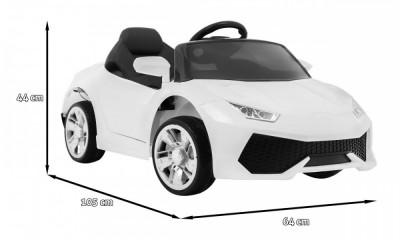 Masinuta electrica Super Speed, alb foto