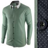 Cumpara ieftin Camasa pentru barbati, verde, slim fit, casual - A La Fontaine