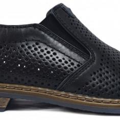 Pantofi barbati perforati cu elastic Rieker 13496 NERO