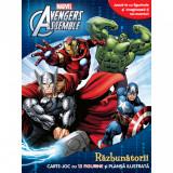Marvel. Avengers Assemble. Răzbunătorii. Carte de joc cu 12 figurine și planșă ilustrată