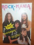 Revista rock mania anul 1,nr. 1 - prima aparitie- holograf,iron maiden,europe
