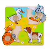 Primul meu puzzle - animale de companie PlayLearn Toys, Bigjigs