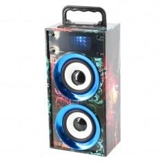 Boxa portabila WKS-669B,10 m, slot cardSD, USB, radio FM