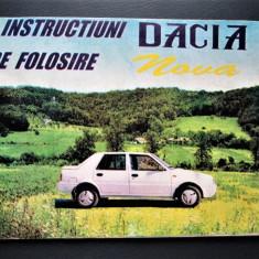 Caiet tehnic, Instructiuni de folosire: Dacia Nova