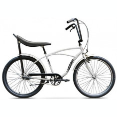 Bicicleta Pegas Strada 1 ALU 3S 2017, Cadru 17inch, Roti 26inch, 3 Viteze (Alb)