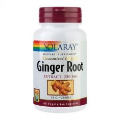Ginger Root (Ghimbir), 60cps, Solaray