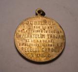 Medalie Regele Carol I si Imparatul Traian 1906