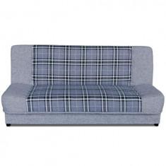 Canapea extensibilă cu spaţiu de depozitare, gri-alb, KARO