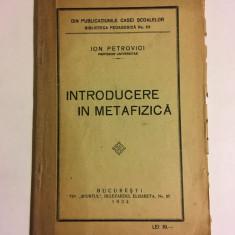 Ion Petrovici - Introducere în metafizică (prima ediție - 1924)