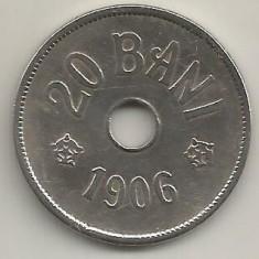 ROMANIA  20  BANI 1906  [1] BRUXELLES  ,  livrare  in cartonas