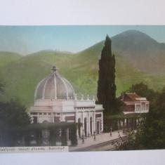 Carte postala Baile Herculane-Gara,circulata 1912