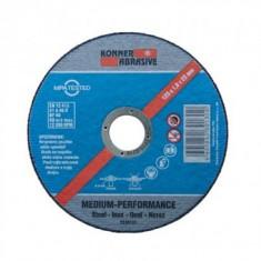 Disc de debitare metal inox profesional Koner 125x1mm
