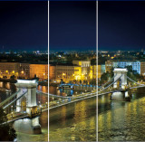 "Tablou ""Bridge"" 3 piese 90 x 90 cm"