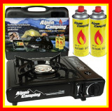 Cumpara ieftin Aragaz Camping Alpen Camping Aragaz Portabil Aprindere Piezzo+ 2 Rezerve Gaz