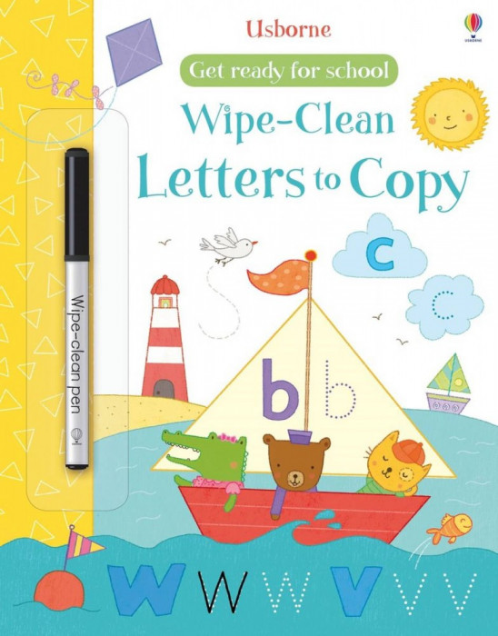 Wipe-Clean Letters to Copy - Carte Usborne (3+)