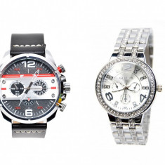 Set ceasuri de mana barbat si dama Matteo Ferari & Geneva - SET20ARN