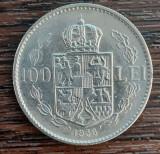(MR40) MONEDA ROMANIA - 100 LEI 1938, CAROL II, KM#54, MAI RARA