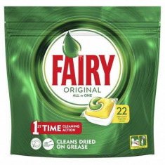 Tablete detergent pentru masina de spalat vase capsule Fairy Original All in One, 22 bucati