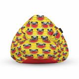 Cumpara ieftin Fotoliu Units Puf (Bean Bag) tip para, impermeabil, cu maner, 80 x 90 x 68 cm, pugs cu pepeni