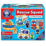 Set 6 puzzle Echipa de salvare (2 si 3 piese) RESCUE SQUAD, orchard toys