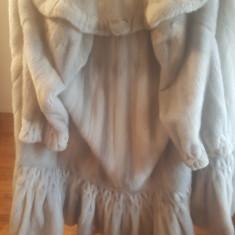 Vand haina vizon argintiu lunga model unique