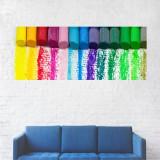 Tablou Canvas, Creioane cerate colorate - 70 x 175 cm