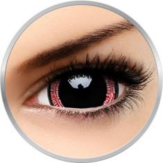 Fancy Ravenous - lentile de contact colorate rosii/negre anuale - 360 purtari (2 lentile/cutie)
