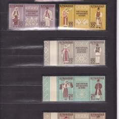 1958  LP 462 a COSTUME NATIONALE TRIPTICURI CU  VINIETE  DANTELAT  SERIE MNH