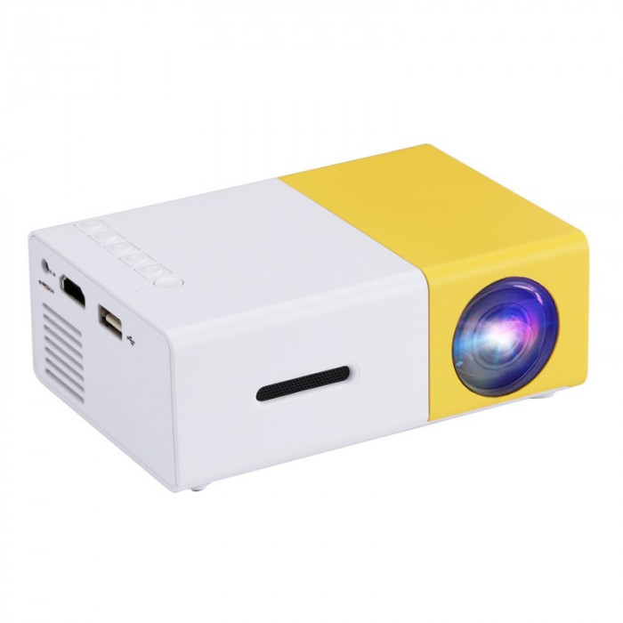 Mini videoproiector LED, proiector portabil Full HD, HDMI, USB, AV, slot card SD, home cinema