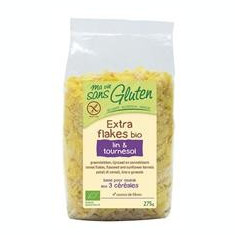 Extra Fulgi Bio cu Seminte In si Floarea Soarelui Fara Gluten Ma Vie Sans Gluten 275gr Cod: 7433
