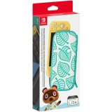 Carcasa si folie de protectie NINTENDO Switch Lite Animal Crossing: New Horizons Aloha Edition, multicolor