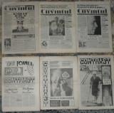 ziarul Contrast (3 numere,anul II) si Cuvantul (3 nr) din1991,ziar,ziare anii 90