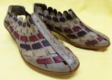 Pantofi damă piele noi / rieker antistres, 37 2/3, Multicolor, Cu toc