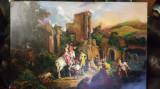 15 Tablou cu peisaj de toamna, pictura in ulei pe panza 45x65 cm