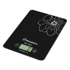 Cantar de bucatarie Hausberg, 5 kg, LCD, Negru