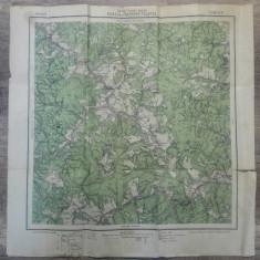 Bicazul si Gyergyo-Tolgyes// harta Serviciul Geografic Armatei 1916