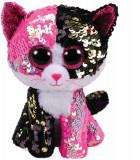 Plus Ty Boos Pisica Malibu cu paiete 24 cm
