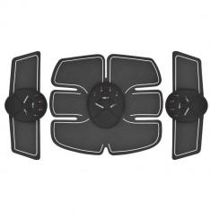 Centura electrostimulare 3 piese smart fitness pro pentru abdomen si brate
