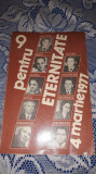 9 pentru eternitate - 4 martie 1977 Dedicatie asociatia scriitorilor din Bucures