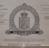 Polita de asigurare Dacia - Romania - 1941