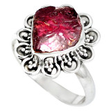 Cumpara ieftin Inel bijuterie din argint 925 cu granat rosu druza