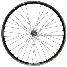 Roata Bicicleta Spate Atlas 26 Profil Dublu Culoare Negru Cnc Spite Otel Nichelate Butuc Metal Pinion Argintiu 3 8 36H
